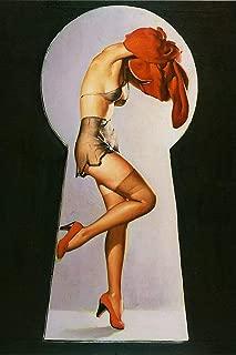 Peek a View Artist Gil Elvgren Vintage Classic Pin Up Girl Poster Print - 24x36