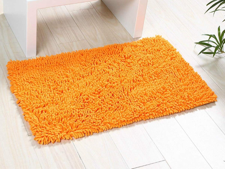 ChezMax Chenille Specific color Non-Slip Indoor Outdoor Hello Doormat Large Small Inside Outside Front Door Mat Carpet Floor Rug orange 24 x35
