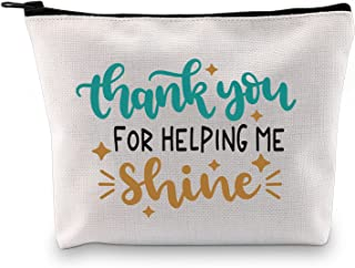 BLUPARK Teachers Appreciation Gifts Thank You For Helping Me Shine Cosmetic Bag Teacher's Day Thanksgiving Day Gifts, Than...