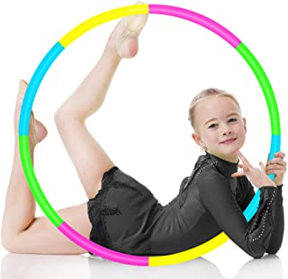 WIOR Gymnastics Suitable for Fitness Updated Indoor /& Outdoor Games Hoola Hoops Kids Weight and Size Adjustable Detachable Sports Toys Hula Hoop for Kids Pink /& Blue Swimming and Pet Training