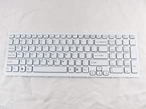 KinFor Product,Laptop Keyboard for Sony VPC-EB36GM VPCEB36GM VPC-EB PCG-71311L PCG-71312L PCG-71313L PCG-71314L White US Keyboard + Clear Protector Cover