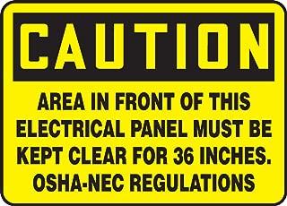 Accuform MELC639VS Adhesive Vinyl Safety Sign, Legend