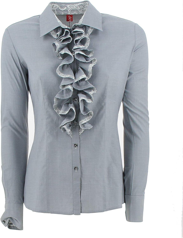 Centofirenze Women's M71931T4029C900O Light bluee Cotton Shirt
