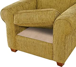 BLS Non-Slip Cushion Underlay Couch Underlay Pad, Keep Your Cushions Stay in The Place for Sofa Upgraded Double Sided Anti-Slip Silicone + Felt in The Middle 24 x 24in (3 Pack)