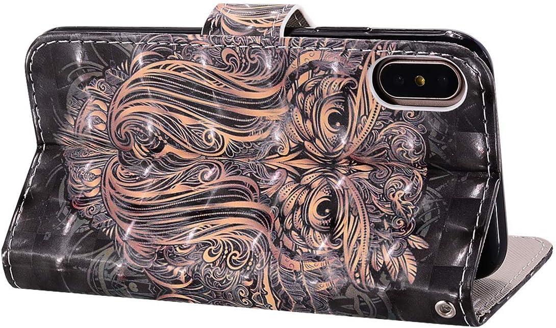 QPOLLY Coque Compatible avec Galaxy S6 Portefeuille en Cuir PU Flip Case Etui /à Rabat Magn/étique 3D Motif Imprim/é Antichoc Housse Protection avec Fonction Support,Porte Cartes,Chat