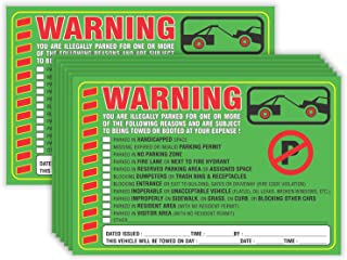 Parking Violation Stickers Notice (Pack of 50) Tow Warning You are Illegally Parked Multi Reasons - Large Size 6
