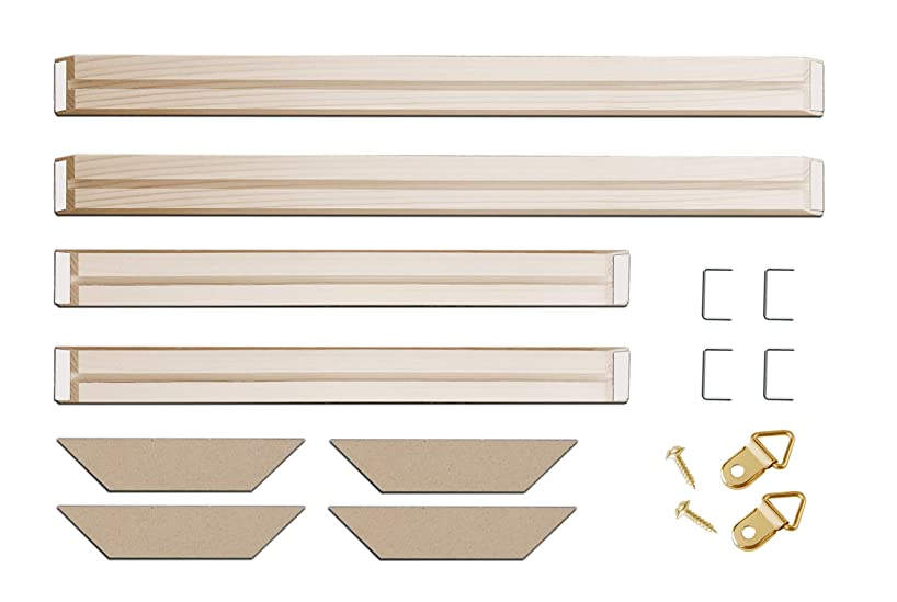 DIY Solid Wood Canvas Frame Kit 28 x36 Inch for Oil Painting & Wall Art - Customized Wooden Art Frames for Paintings & Canvases - Easy to Build Canvas Stretching System - Framed Picture Accessories