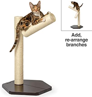 PetFusion Branch-Out Cat Scratching Post. Tall Vertical Post with Innovative Tree Branch Design. Add-on kit & Replacement Posts Available.