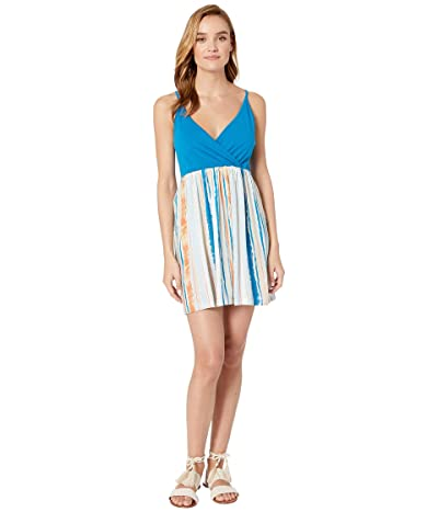 Roxy Floral Offering Dress (Bright White River) Women