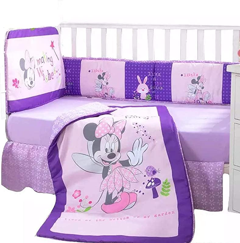 Minnie Mouse Disney Crib Bedding Set Sheets 5PC Comforter Bumper Guard HeadBoard Bear LIMITED EDITION