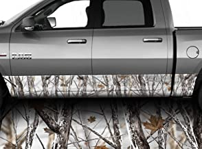 Speed Demon Hot Rod Shop Snowstorm Camouflage Rocker Wraps Rocker Panel Graphic Decal Wrap Kit for Trucks and SUVs (Flat Conformability, 8