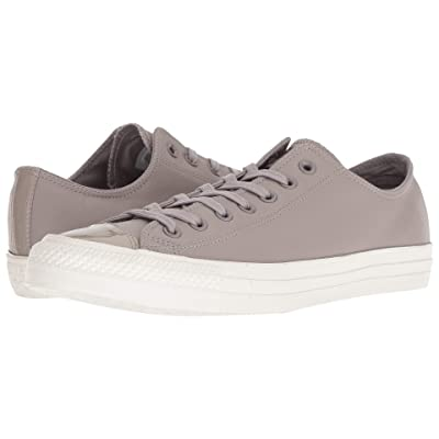 Converse Chuck Taylor All Star Leather Ox (Mercury Grey/Mercury Grey) Lace up casual Shoes
