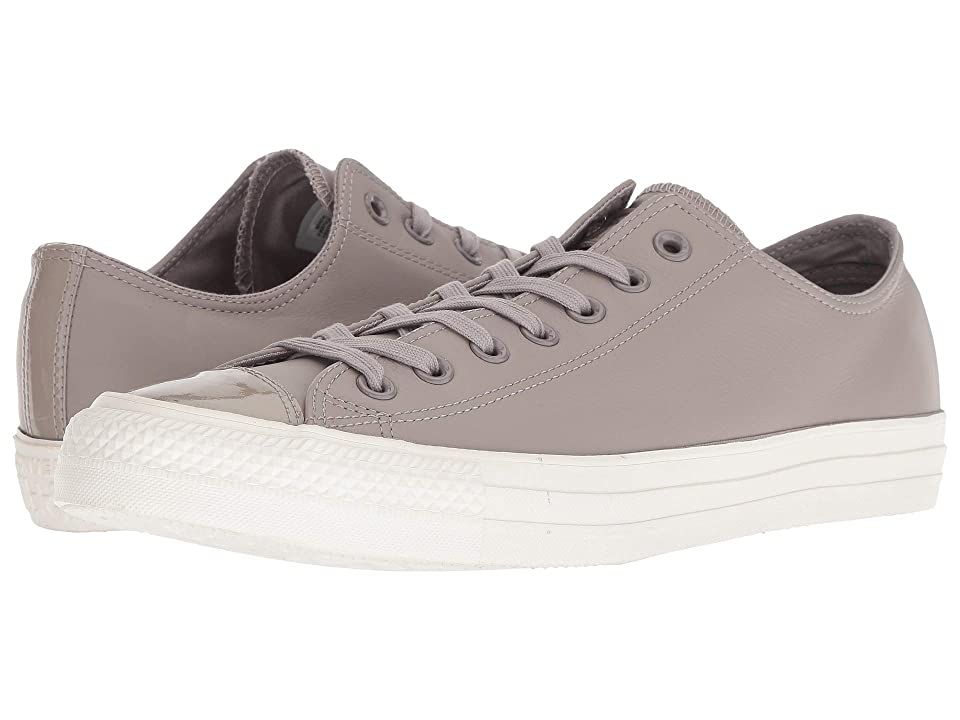e6fe36804f6226 Converse Chuck Taylor All Star Leather Ox (Mercury Grey Mercury Grey) Lace  up