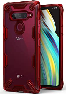 Ringke Fusion-X Compatible with LG V40 ThinQ Case Military Drop Tested Defense Phone Cover for LG V40 ThinQ (2018) - Ruby Red