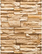 ورق جدران بتصميم حديث ريفي ترافرتين من يورك وولكفيرتينجز مقاس 8 × 10 مذكرة عينة غنية جوزة الطيب بني/بني غامق