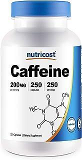 Caffeine Pills 200mg, 250 Capsules