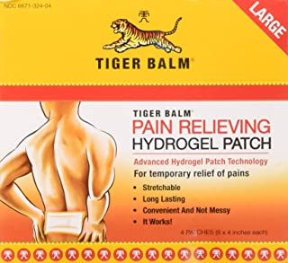 Tiger Balm Pain Relieving Patch Large, 4 Count (Pack of 6)