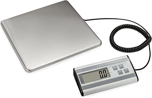 Smart Weigh Digital Heavy Duty Shipping and Postal Scale with Durable Stainless Steel Large Platform, 440 Pound Capac...