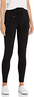 Daily Ritual Women's Ponte Knit Skinny-Fit Zip Pants