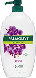 Palmolive Naturals Orchid Body Wash with Moisturising Milk 0 percentage Parabens Recyclable, 1L
