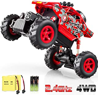 RADCLO RC Car 2.4Ghz 1/20 Dual Motors Rechargeable Remote Control Truck 4WD Off Road RC Truck Vehicle Rock Crawler with Two Rechargeable Batteries