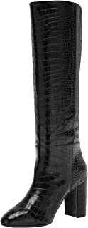 Chinese Laundry Women's KRAFTY Knee High Boot, Black Croco, 11