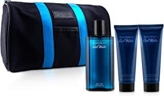 Davidoff Cool Water Coffret: EDT Spray 125ml + After Shave Balm 75ml + Shower Gel 75ml +Toilet Bag 3pcs+Bag