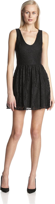 Joie Women's Phelia Lace V-Neck Fit-and-Flare Sleeveless Dress