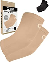 Elbow Brace Compression Sleeve (1 Pair) - Instant Arm Support Elbow Sleeves for Tendonitis, Arthritis, Bursitis, Golfers &...