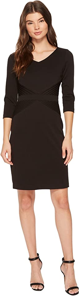 Ponte Career Dress with Sleeves