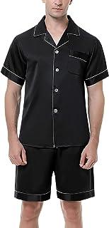 Irevial Men Pjs Pajama Set Cotton Loungewear Nightwear Sleepwear Top & Bottoms Outfits