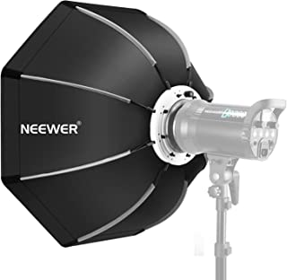 Neewer 26 inches/65 centimeters Foldable Octagonal Softbox with Bowens Mount Speedring, Carrying Case for Speedlite Studio Flash Monolight,Portrait and Product Photography