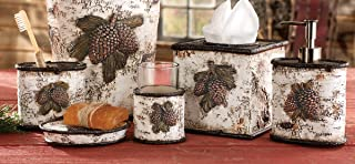 BLACK FOREST DECOR Pinecone & Birch Lodge Bath Set - 4 pcs