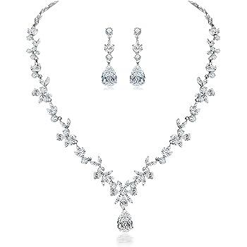 Stunning-new Diamante collar y pendiente conjunto De 4 Piezas Fiesta traje Boda