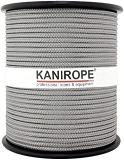 Kanirope PP Seil Polypropylenseil MULTIBRAID 5mm 100m Farbe Dunkelgrau 0921 16x geflochten
