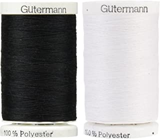 Black & Nu-White 2-Pack Bundle of Gutermann Sew-All Thread - 547 Yards each
