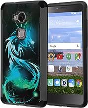Huawei Sensa Case, Honor 5X Case, Capsule-Case Hybrid Silm Defender Armor Combat Case (Dark Grey & Black) Brush Texture Finishing for Huawei Sensa 4G LTE / Honor5X - (Dragon)