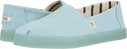 Pastel Turquoise Heritage Canvas Cupsole