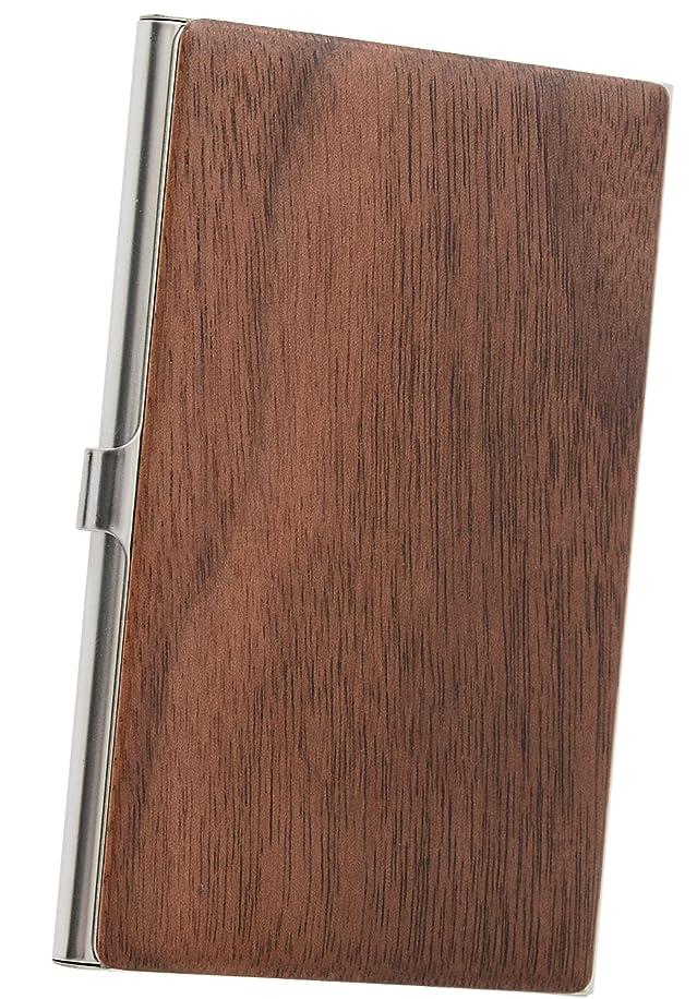 電気技師成分ほめる木製 名刺入れ カードケース メンズ レディース ウォールナット ME0145_c3