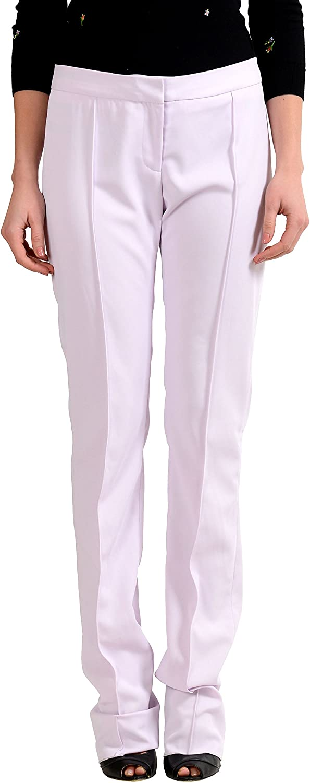 Just Cavalli Women's Light Purple Casual Pants US 4 IT 40