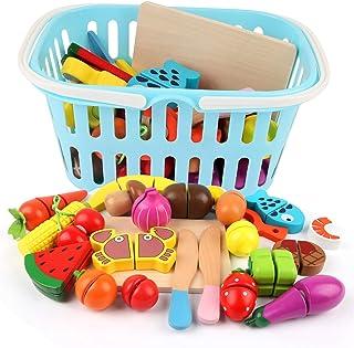 comprar comparacion BeebeeRun Corte de Frutas y Alimentos Falsos,Alimentos Juguetes