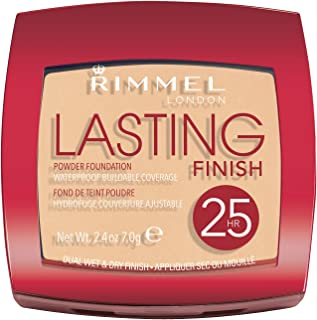 Rimmel London Lasting Finish 25 Hour Powder, Shade 002, Soft Beige