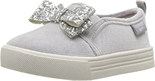 OshKosh B'Gosh Girls' Maeve Sneaker, Chrome, 12 M US Little Kid