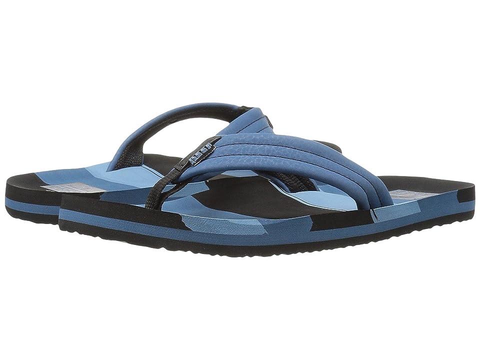 Reef Kids Ahi (Infant/Toddler/Little Kid/Big Kid) (Blue Multi Lines) Boys Shoes
