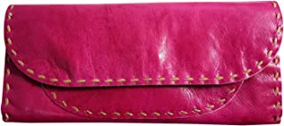 """India Meets India Handicraft Clutch Bag, Evening Bag Women, 8.2""""x6.8"""" Inch,Pink Color, Best Gifting Made by Awarded Indian..."""