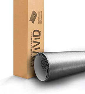 VViViD XPO Silver Brushed Steel Car Wrap Vinyl Roll with Air Release Technology (1.49ft x 5ft)