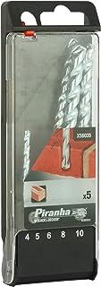 Black+Decker 5 Pieces Piranha Masonry Drill Bit Set 4, 5, 6, 8, 10 mm, X56035-QZ