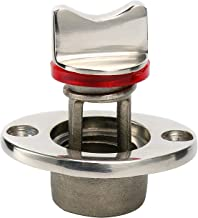 Amarine Made Oval Garboard Drain Plug Stainless Steel Boat Fits 1'' Hole, Thread for 3/4''