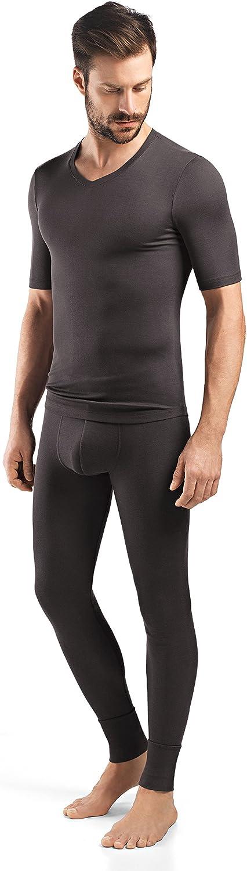 HANRO Men's Silk Cashmere V-Neck OFFicial store Short Shirt Sleeve latest