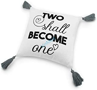 Cotton and Linen Tassel Pillow Two Shall Become One, Decorative Throw Pillow Case for Sofa Couch Living Room Cushion Pillo...